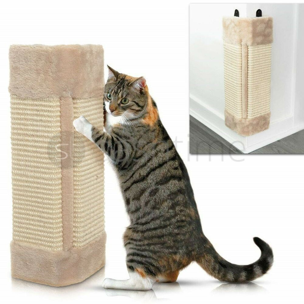 Pet Kitten Corner Sisal Wall Scratcher Cats Hanging Cat