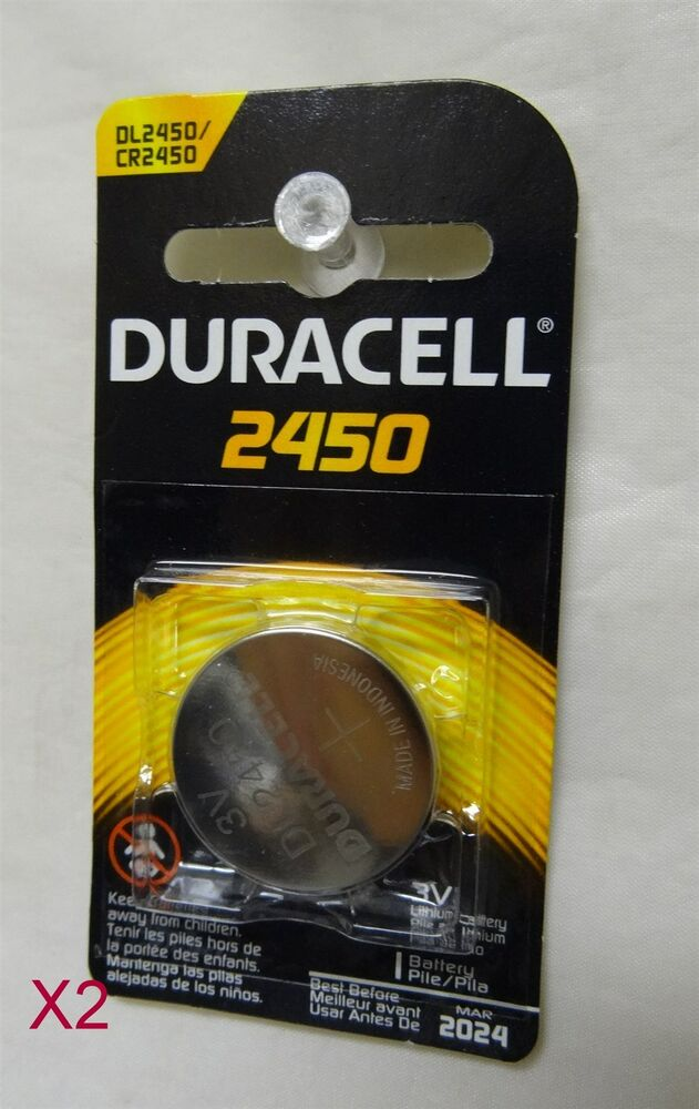 duracell 2450 photo electronic battery lot of 2 exp 2024 dl2450 cr2450 ebay. Black Bedroom Furniture Sets. Home Design Ideas