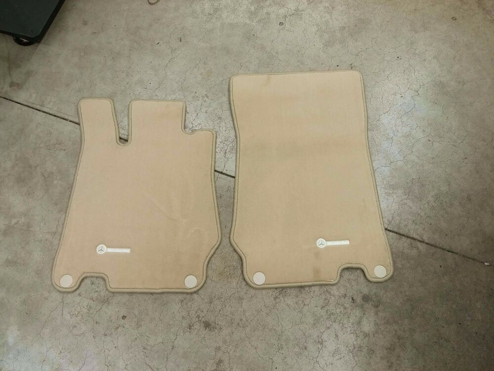 Genuine oem mercedes benz sl class r230 stone beige carpet for Mercedes benz sl550 floor mats