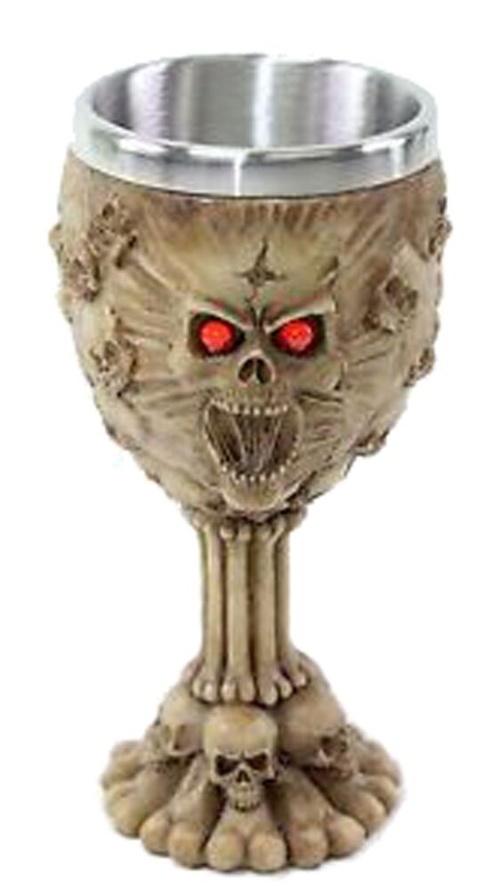 Http Www Ebay Com Itm Retro Red Eyes Skulls Wine Goblet Stainless Medieval Collectible Home Decor Gift 351679581825
