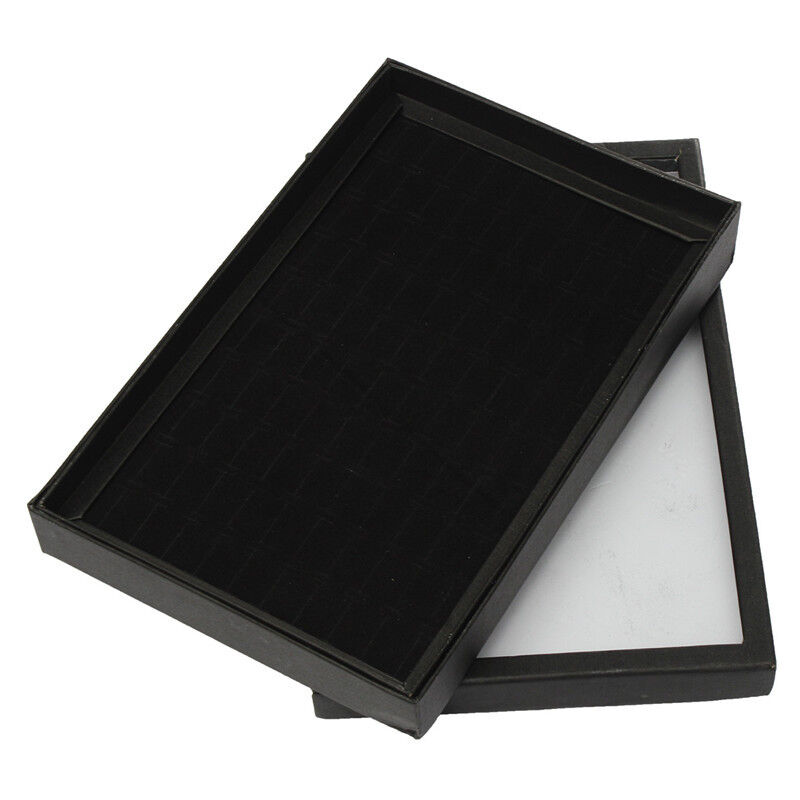 Black tray show case jewelry display storage box organiser for Ring case