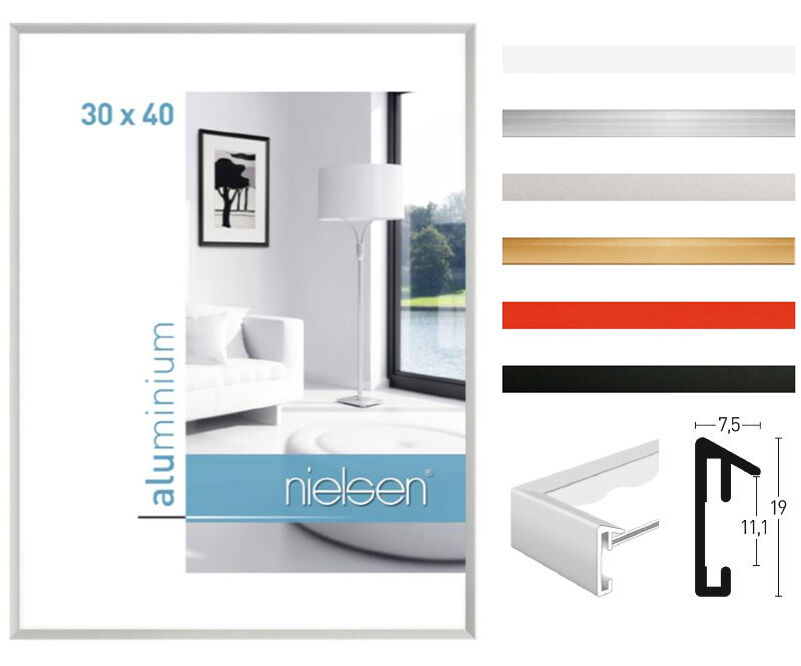 nielsen pixel alurahmen aluminium rahmen bilderrahmen. Black Bedroom Furniture Sets. Home Design Ideas