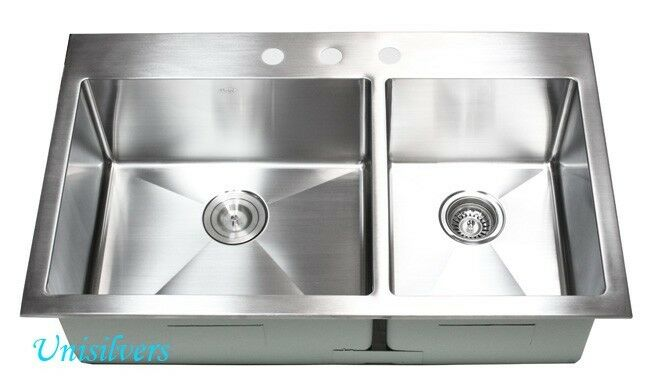 36 Quot 15mm Radius Corner Topmount Double Bowl 60 40