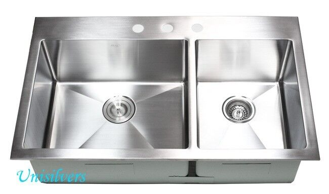 topmount kitchen sink 36 quot 15mm radius corner topmount bowl 60 40 2866