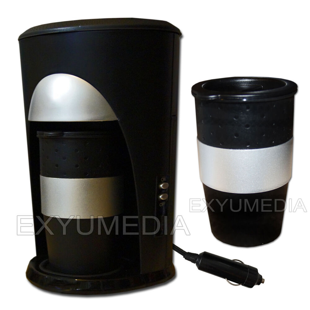 12v pad reise kaffeemaschine 2 becher auto kaffee automat 12 volt fernfahrer ebay. Black Bedroom Furniture Sets. Home Design Ideas
