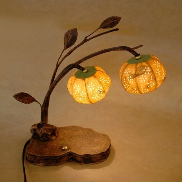 Paper Ball Orange Shade Decorative Table Bedside Home