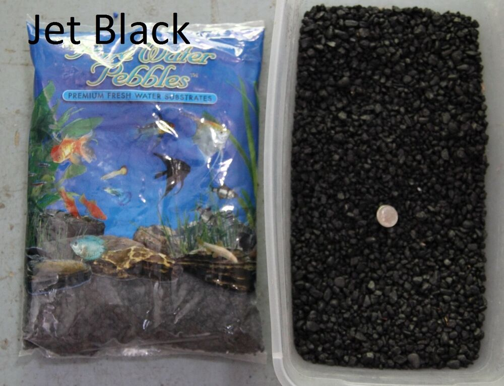 Jet black 5 lbs aquarium fish tank gravel pure water for Fish tank pebbles