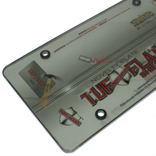 Smoke Tinted License Plate Tag Frame Cover Shield