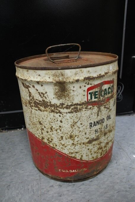 Vintage 5 gallon can texaco rando motor oil ebay for Gallon of motor oil