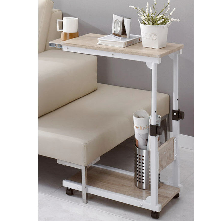 Diy Steel Food Wheel Table Side Table Laptop Desk Table