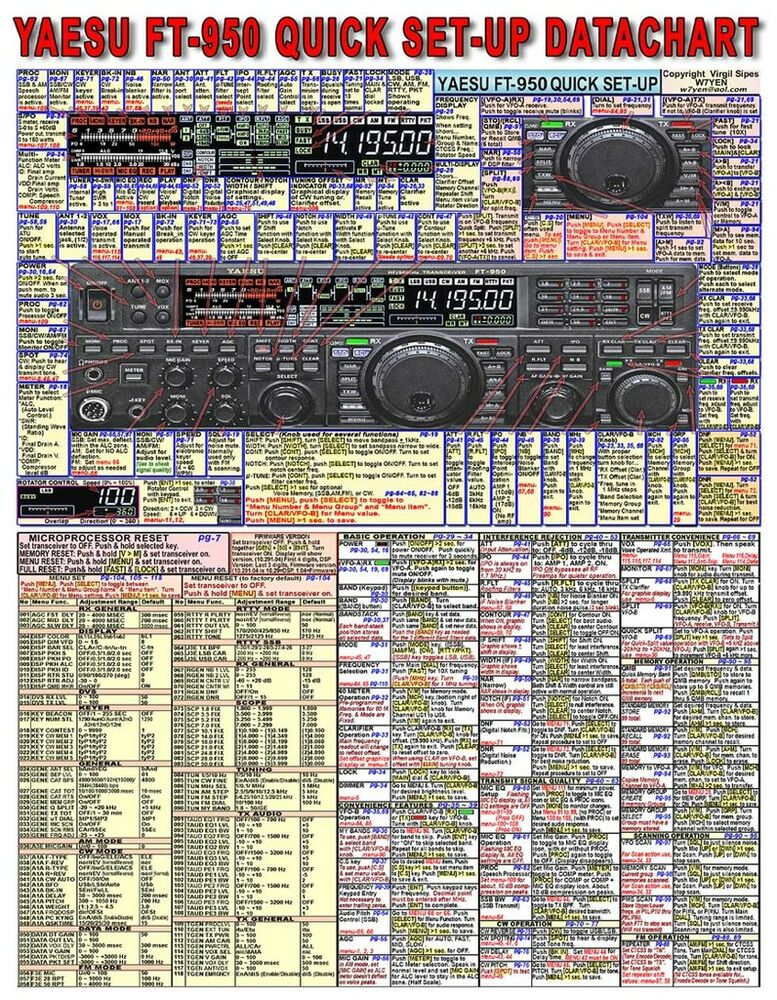 yaesu ft amateur ham radio datachart graphic information yaesu ft 950 amateur ham radio datachart graphic information indexed ex large 788026110032