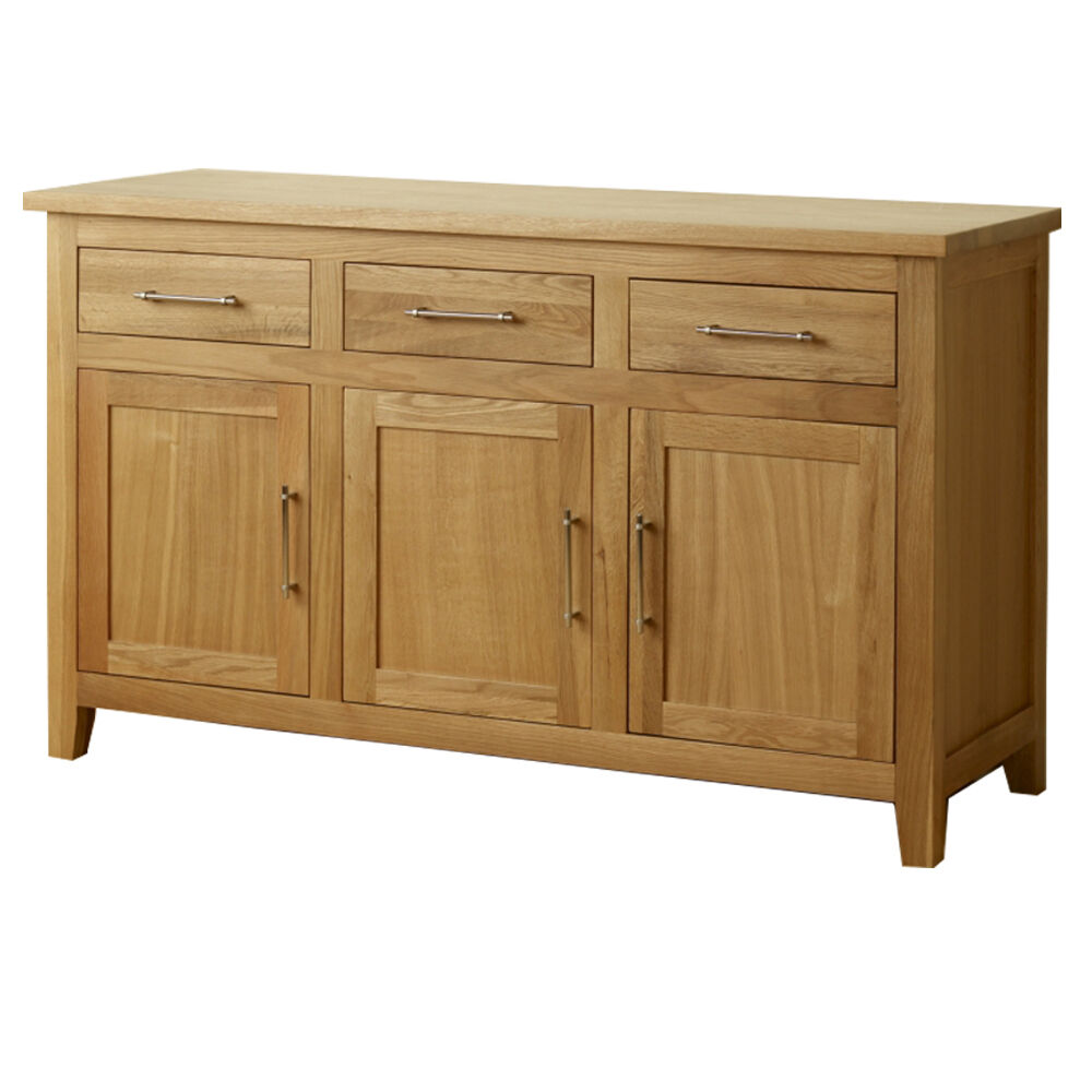 sideboard harold solid oak modern dining living room cabinet kitchen cupboard ebay. Black Bedroom Furniture Sets. Home Design Ideas