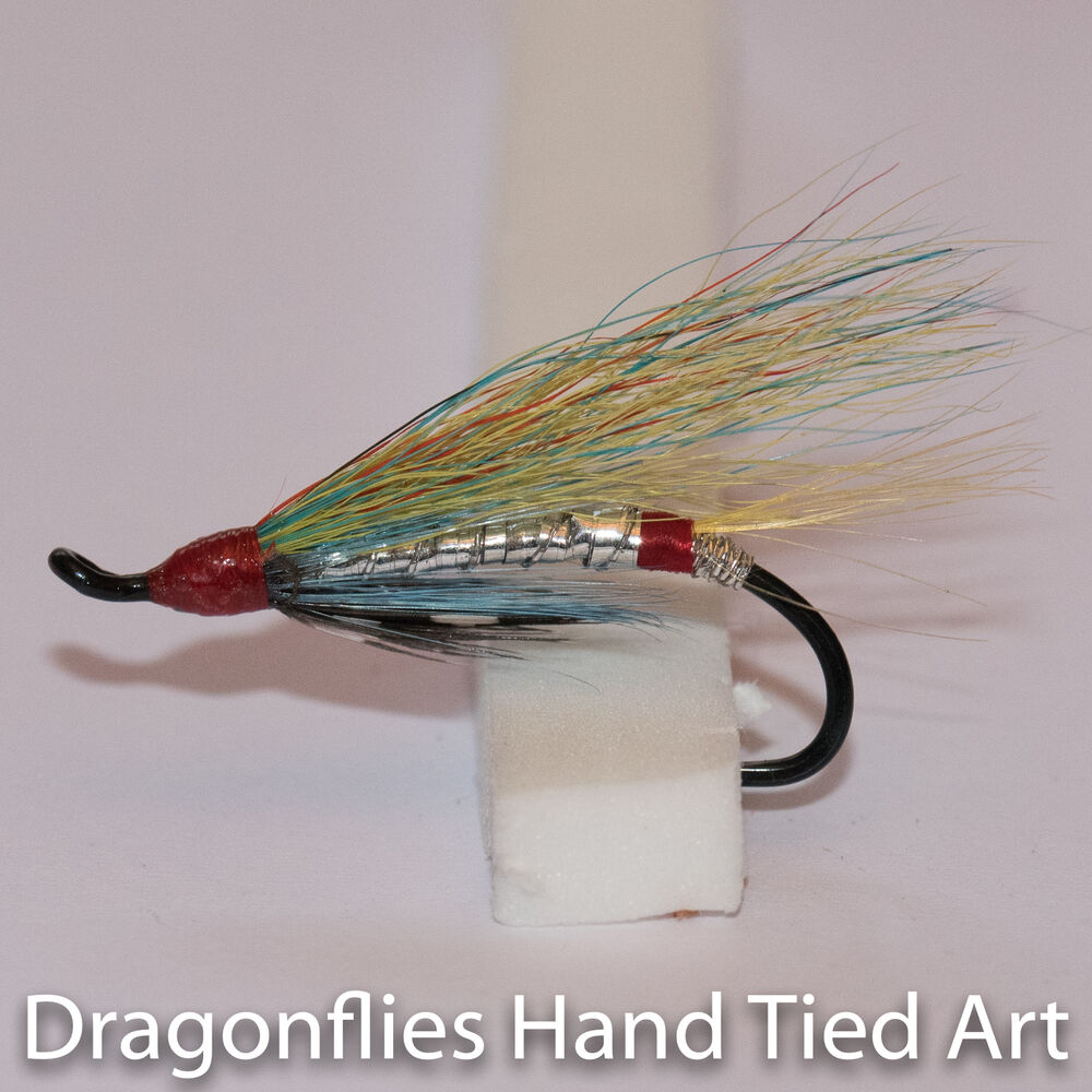 silver doctor salmon fly fishing flies single hook by