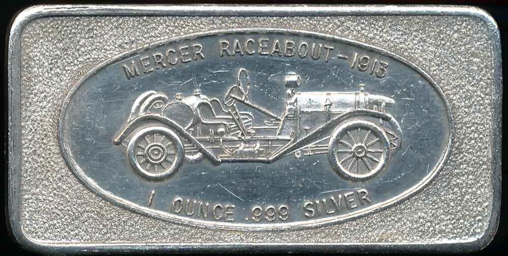 Mercer Raceabout 1913 1 Troy Oz 999 Fine Silver Bar Ebay