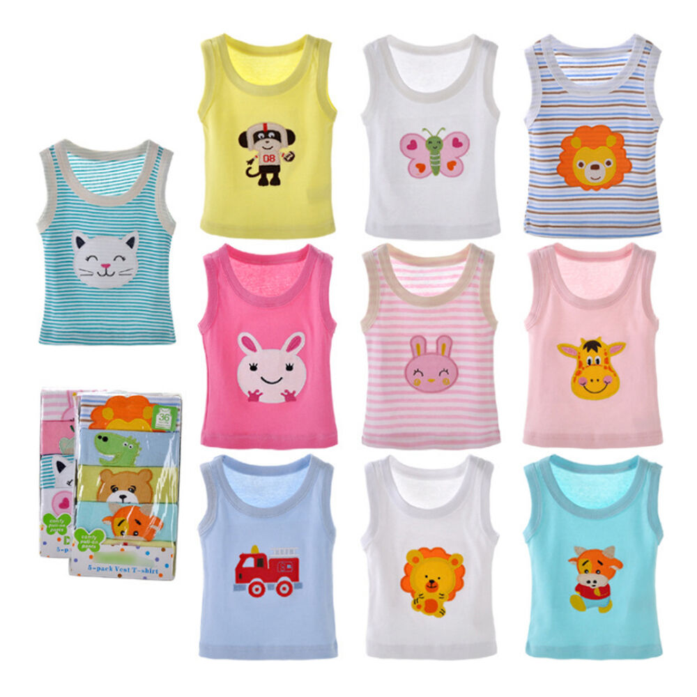 Toddler Boy T Shirt Baby Girl Tank Tops Sleeveless Floral ...