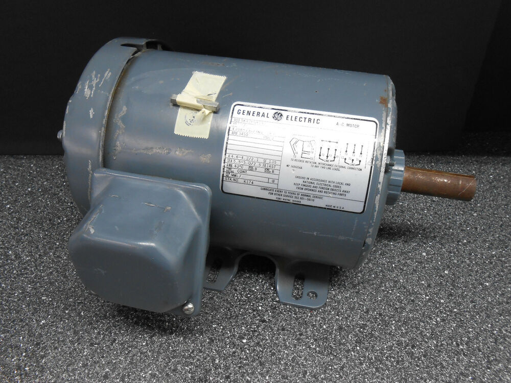 General electric 5k47pg8182 1 1 2 hp fr 145t rpm 3450 for 1 rpm electric motor
