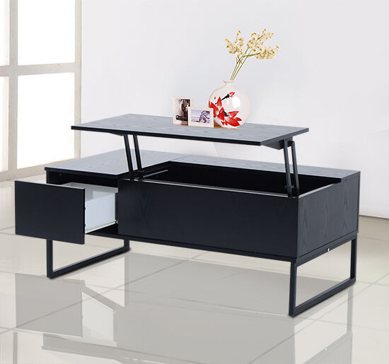 Coffee Table Tea 43 Lift Top Storage Drawer Wood Living Room Furniture Modern Ebay