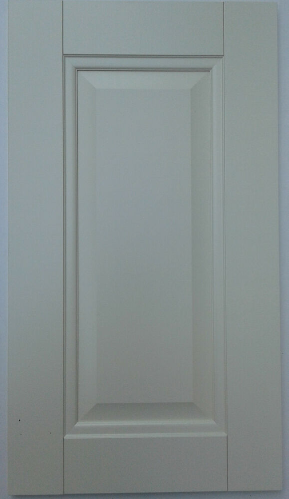 Raised panel matt ivory cream kitchen cupboard unit for Replacement kitchen unit doors