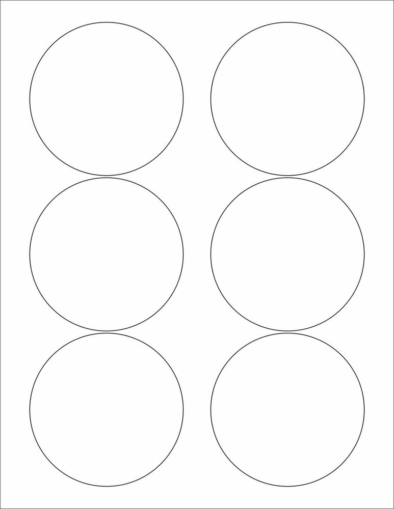 6 sheets 3 1 3 round circle blank white matte stickers for Half inch round labels