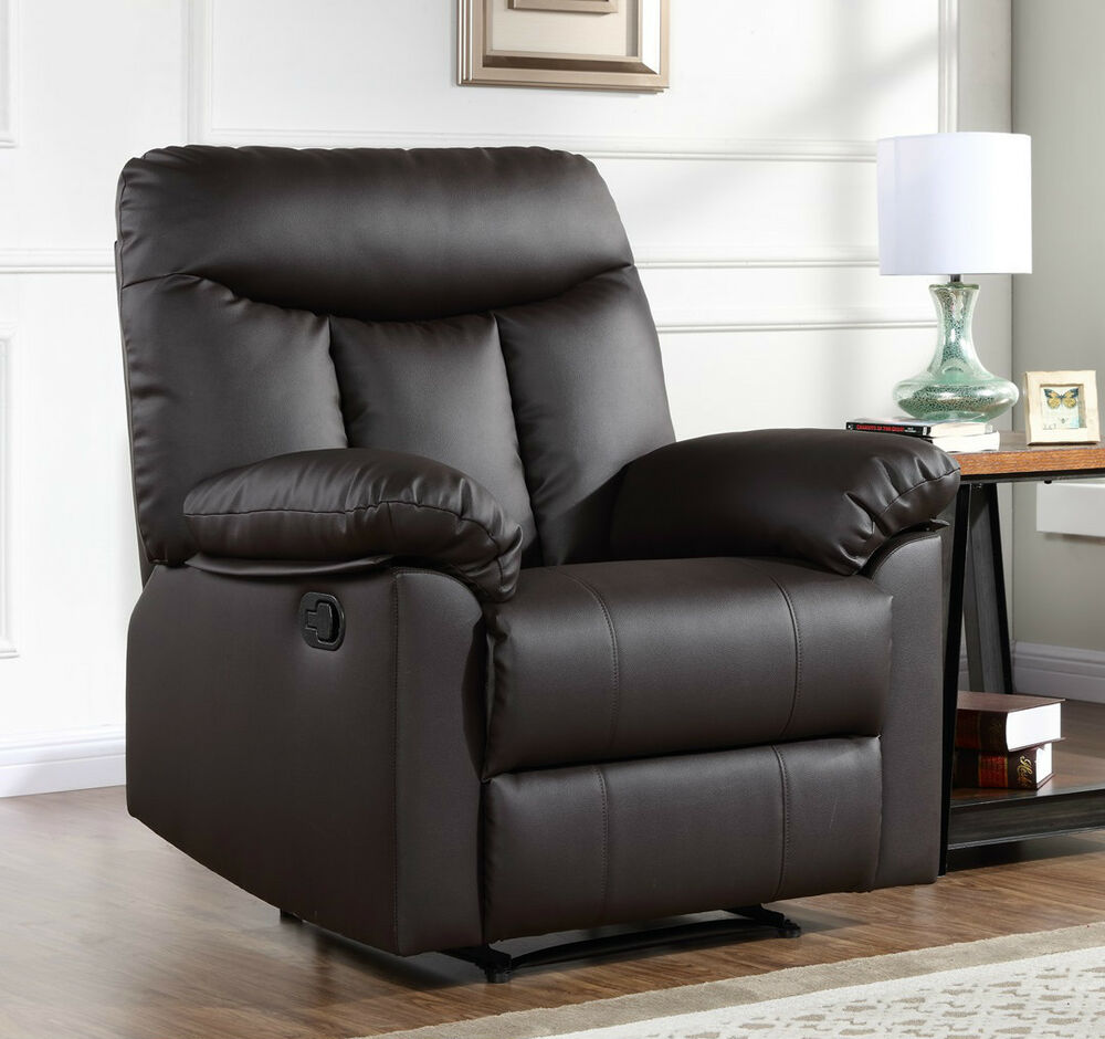 leather or fabric recliner armchair home sofa lounge chair reclining