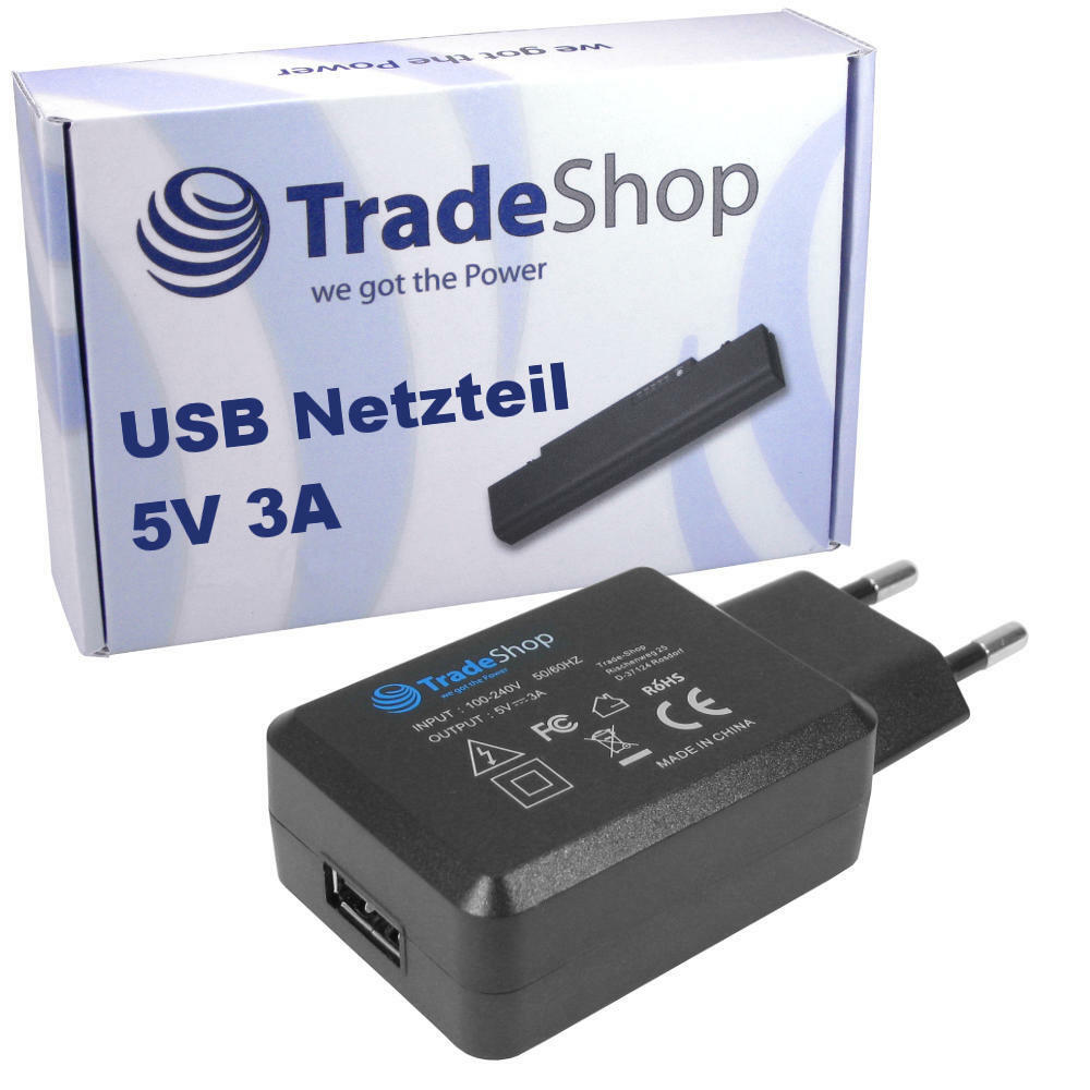 5v 3a usb wand adapter plug ladeger t netzteil universal anschluss ebay. Black Bedroom Furniture Sets. Home Design Ideas