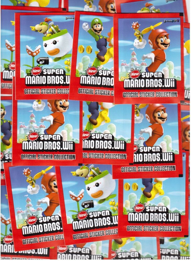 New Super Mario Bros Wii 25 T 252 Ten Sticker Ovp Emax Ebay