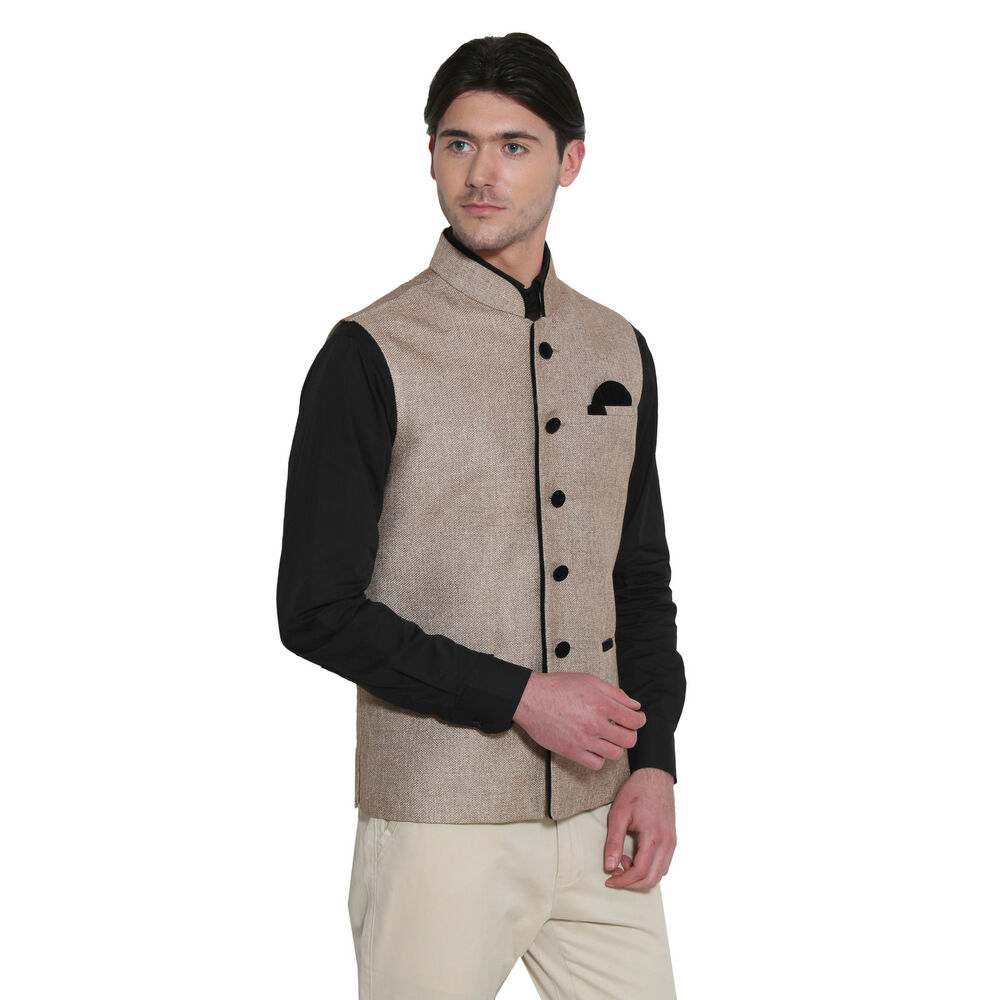 mens designer indian wedding stylish waistcoat vest formal