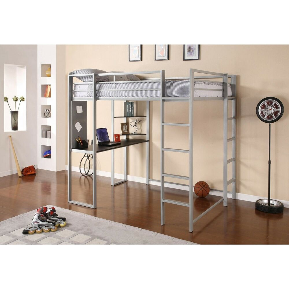 Dhp Abode Full Size Metal Loft Bed Ebay