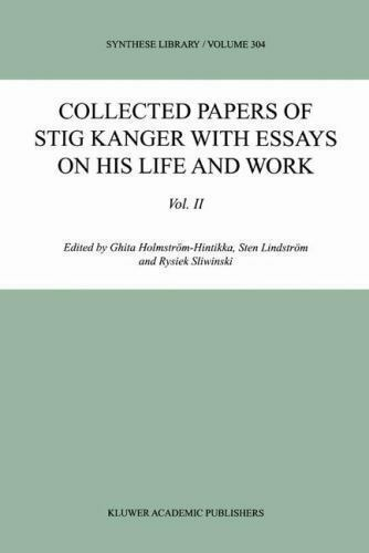 collected essay his kanger library life papers stig synthese