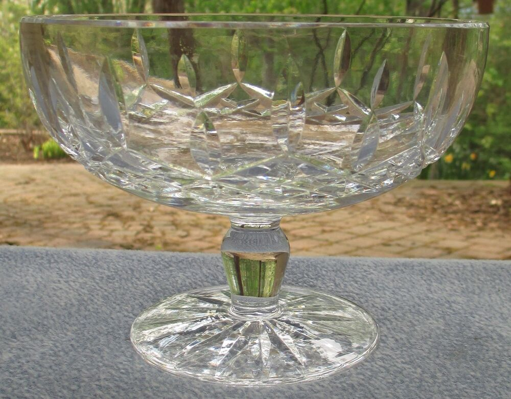 Waterford Irish Crystal LISMORE Pedestal Compote Footed Candy Bowl Mint | eBay