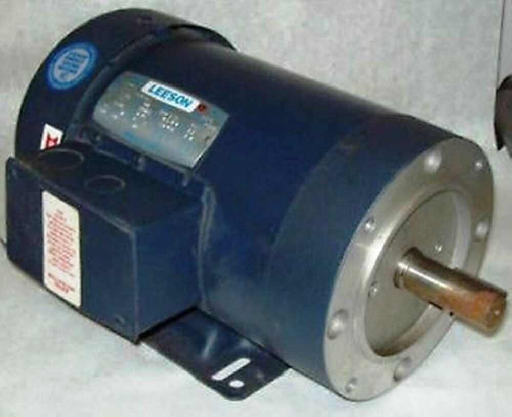 Leeson 1 1 2 hp 1740 rpm tefc 145tc electric motor ebay for 1 2 hp ac motor