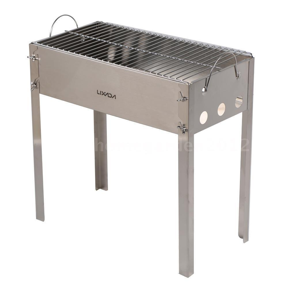lixada portable charcoal bbq grill set for outdoor picnic camping r5e0 ebay. Black Bedroom Furniture Sets. Home Design Ideas