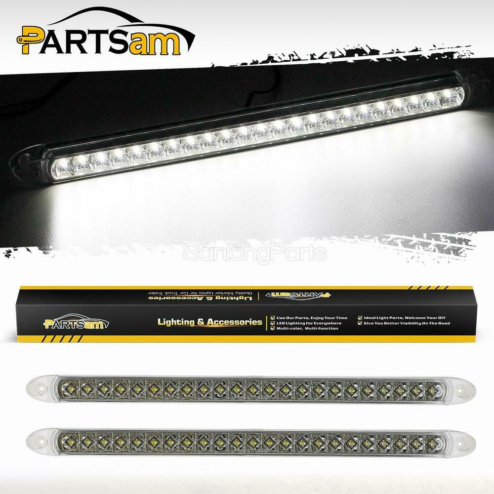 2x17 white 23led surface mount truck reverse backup tail. Black Bedroom Furniture Sets. Home Design Ideas