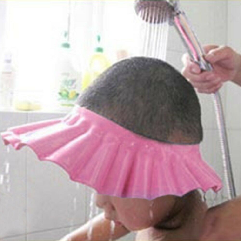 New baby kid child shampoo bath shower cap hat wash hair for Childrens shower head