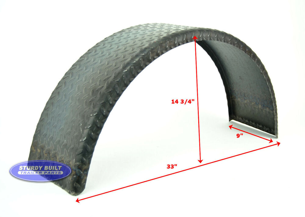 Trailer Fenders With Backing Plate : Utility trailer fenders gauge heavy duty round