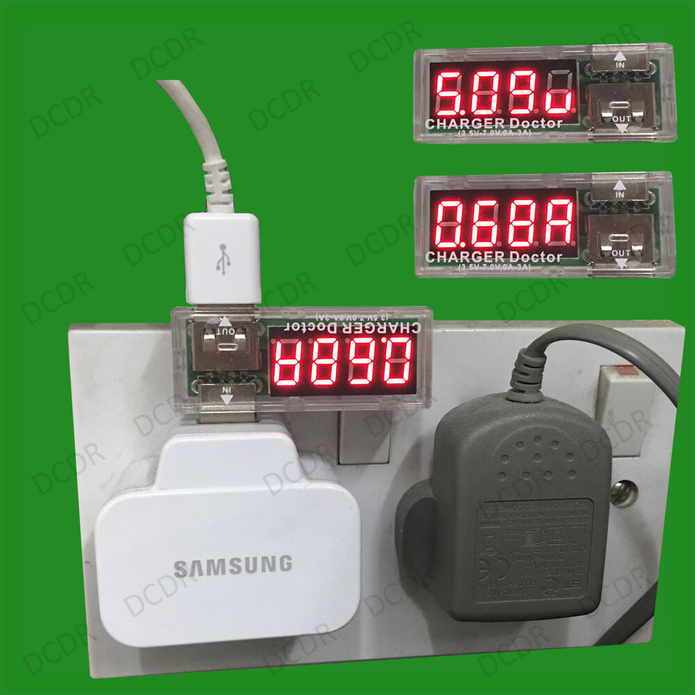 1 Meter Wire Current : Usb mobile power detector cable wire tester voltage
