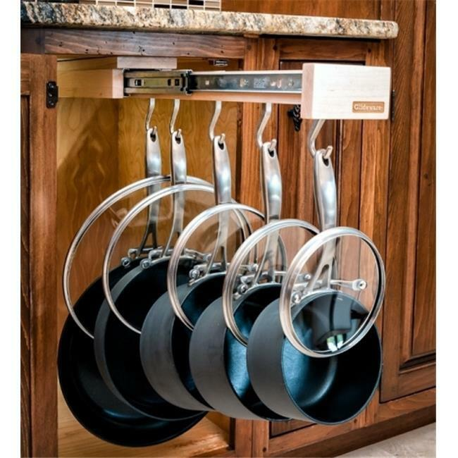 glideware pull out cabinet organizer for pots and pans ebay. Black Bedroom Furniture Sets. Home Design Ideas