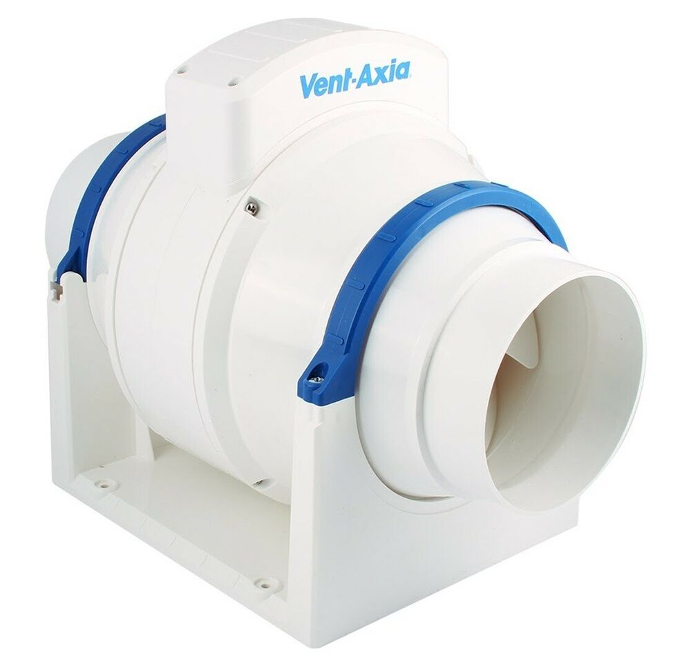 High Flow Vent Fan : Vent axia acm in line mixed flow bathroom extractor fan