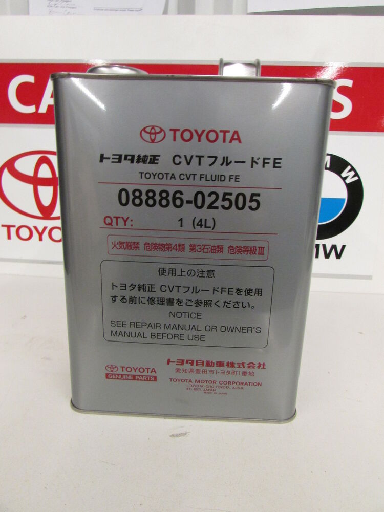toyota oem cvt fluid fe 4l 08886 02505 ebay. Black Bedroom Furniture Sets. Home Design Ideas