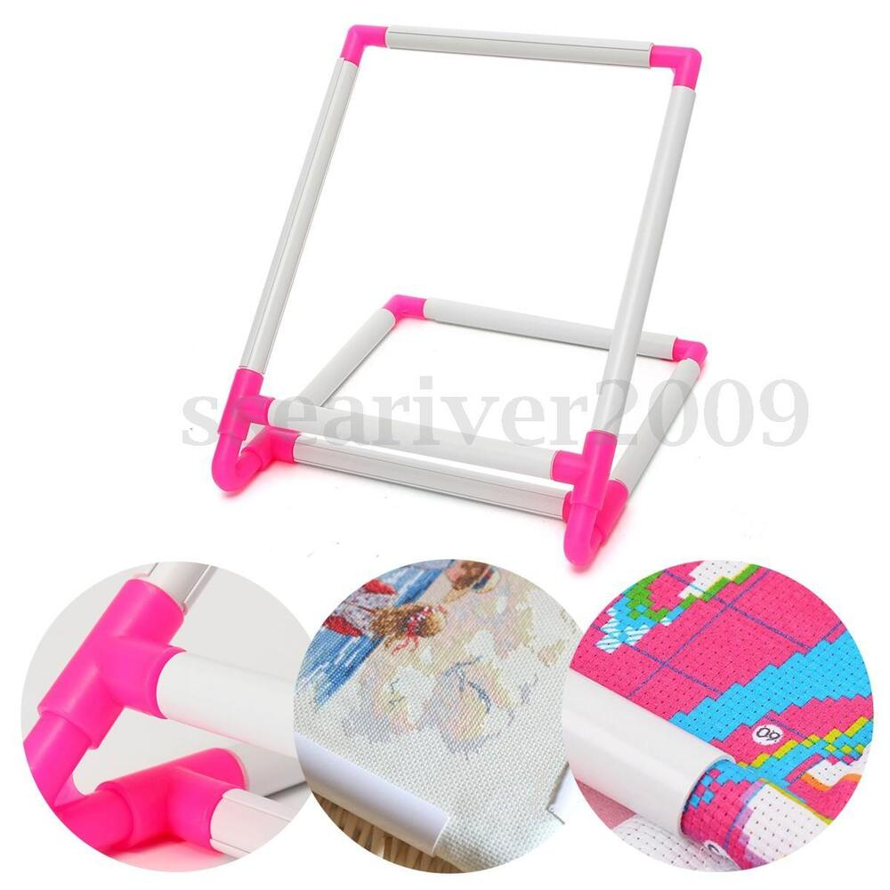 Sit on clip embroidery frame cross stitch hoop stand craft