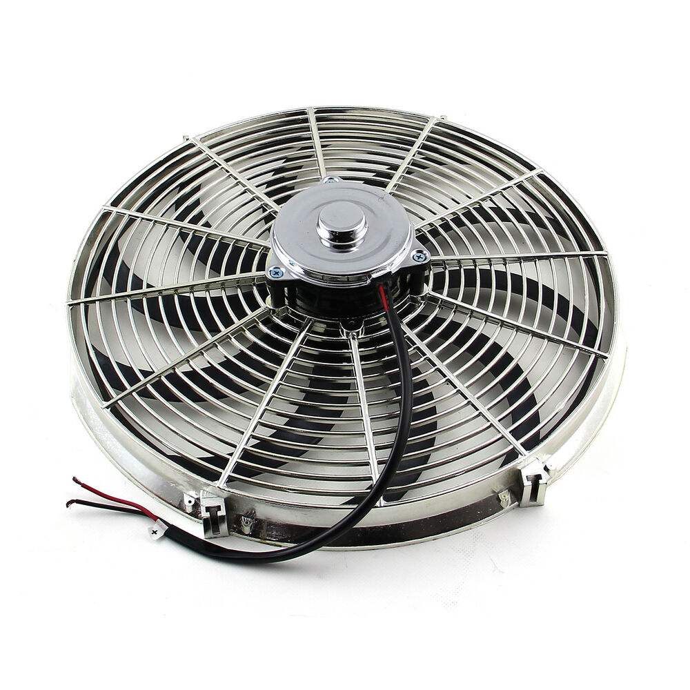 Electric Motor Fan Blades : Quot reversable v s blade radiator electric thermo fan