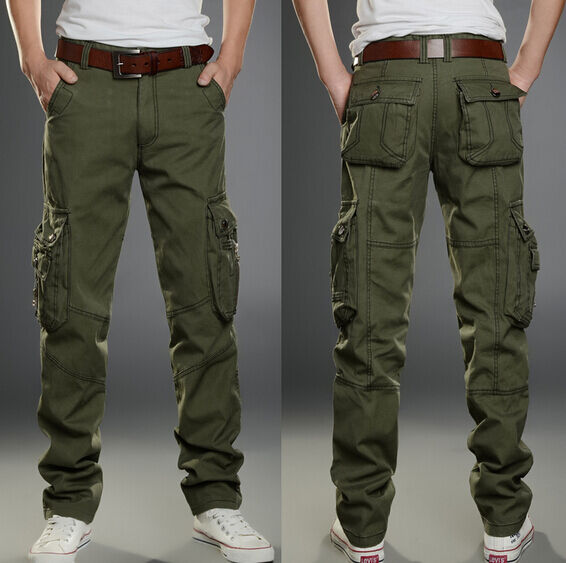 Model Womens Cargo Pants With Pockets - Pant Olo