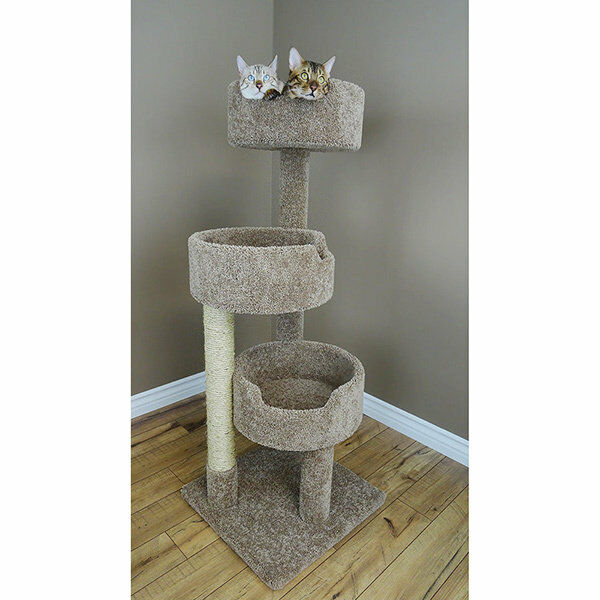 New Cat Condos Deluxe Kitty Pad Cat Tree Ebay