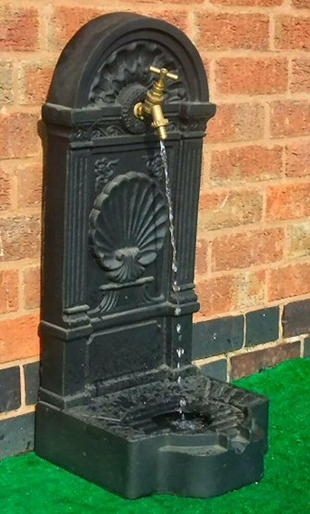 Garden Brass Tap Water Feature Self Contained Outdoor Wall