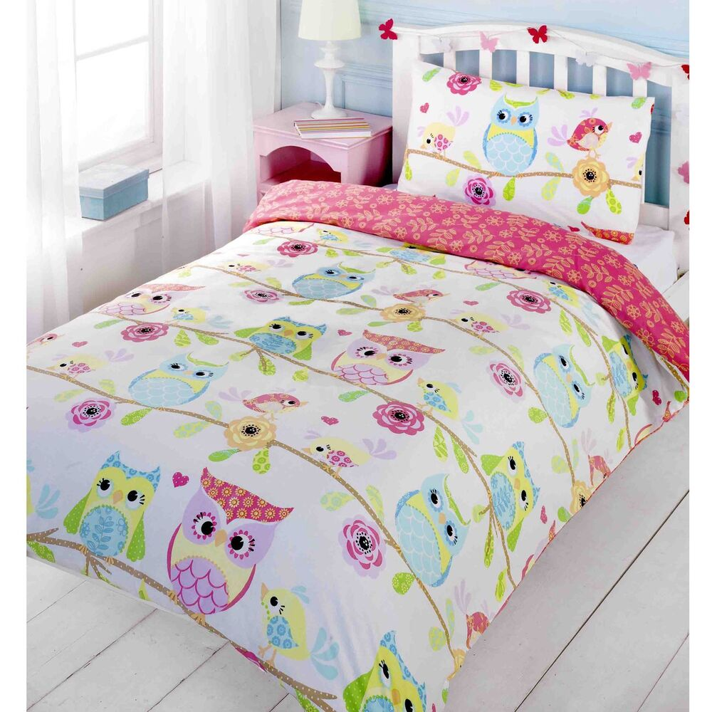 Owls Amp Friends Full Size Duvet Cover Bed Sheets New Kids
