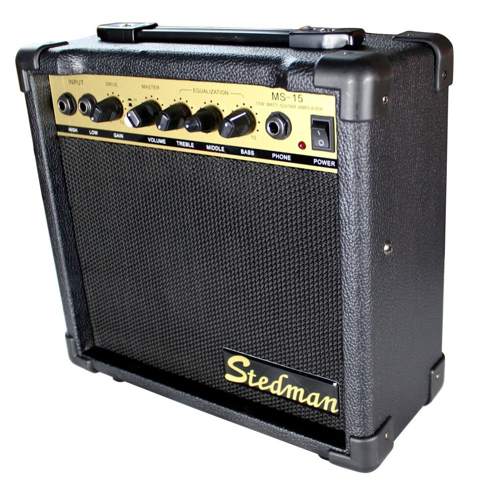new 15 watt electric bass guitar practice amplifier amp ebay. Black Bedroom Furniture Sets. Home Design Ideas