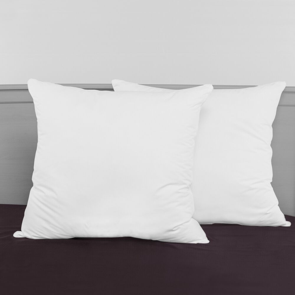 SwissLux Decorator 28-inch Euro Square Pillows (Set of 2 ...