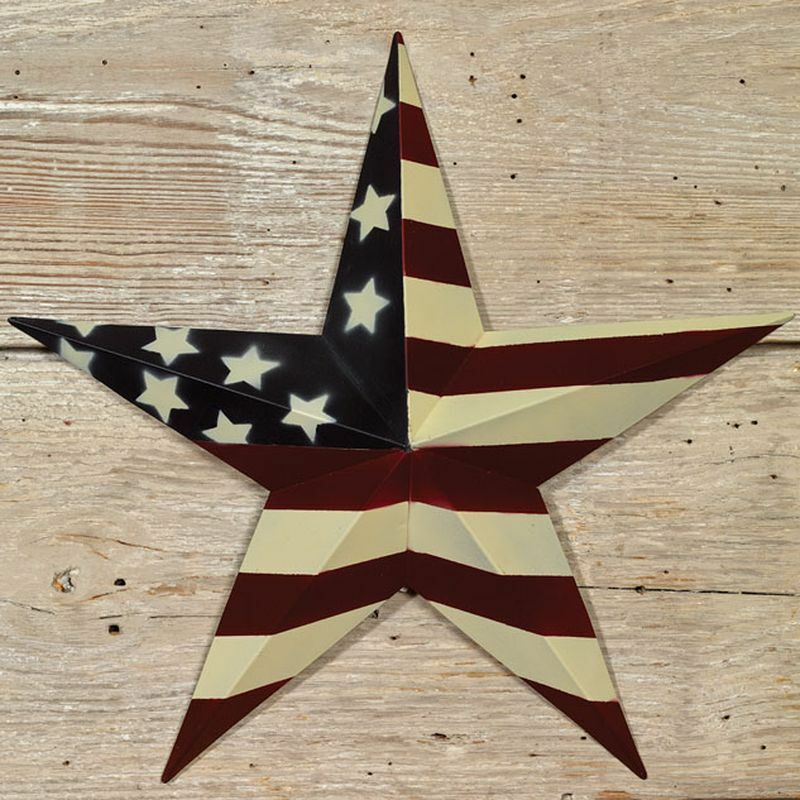 12 country primitive patriotic americana flag barn star for Barn star decorations home