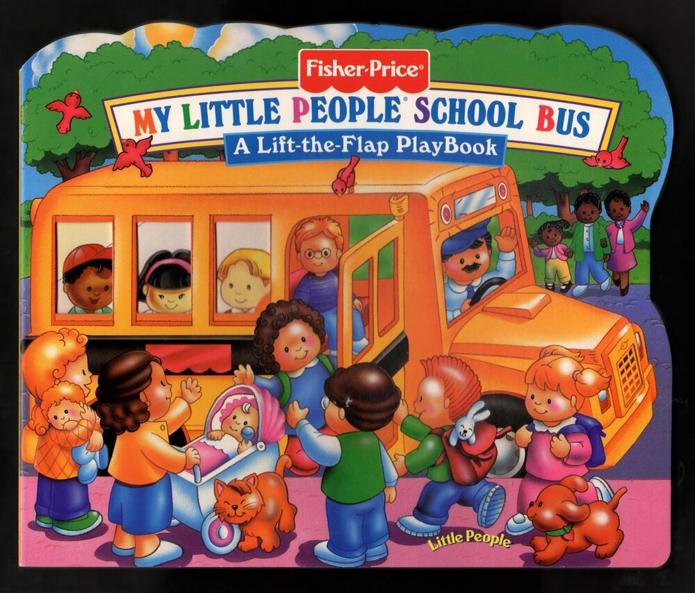 fisher price my little people school bus a lift the. Black Bedroom Furniture Sets. Home Design Ideas