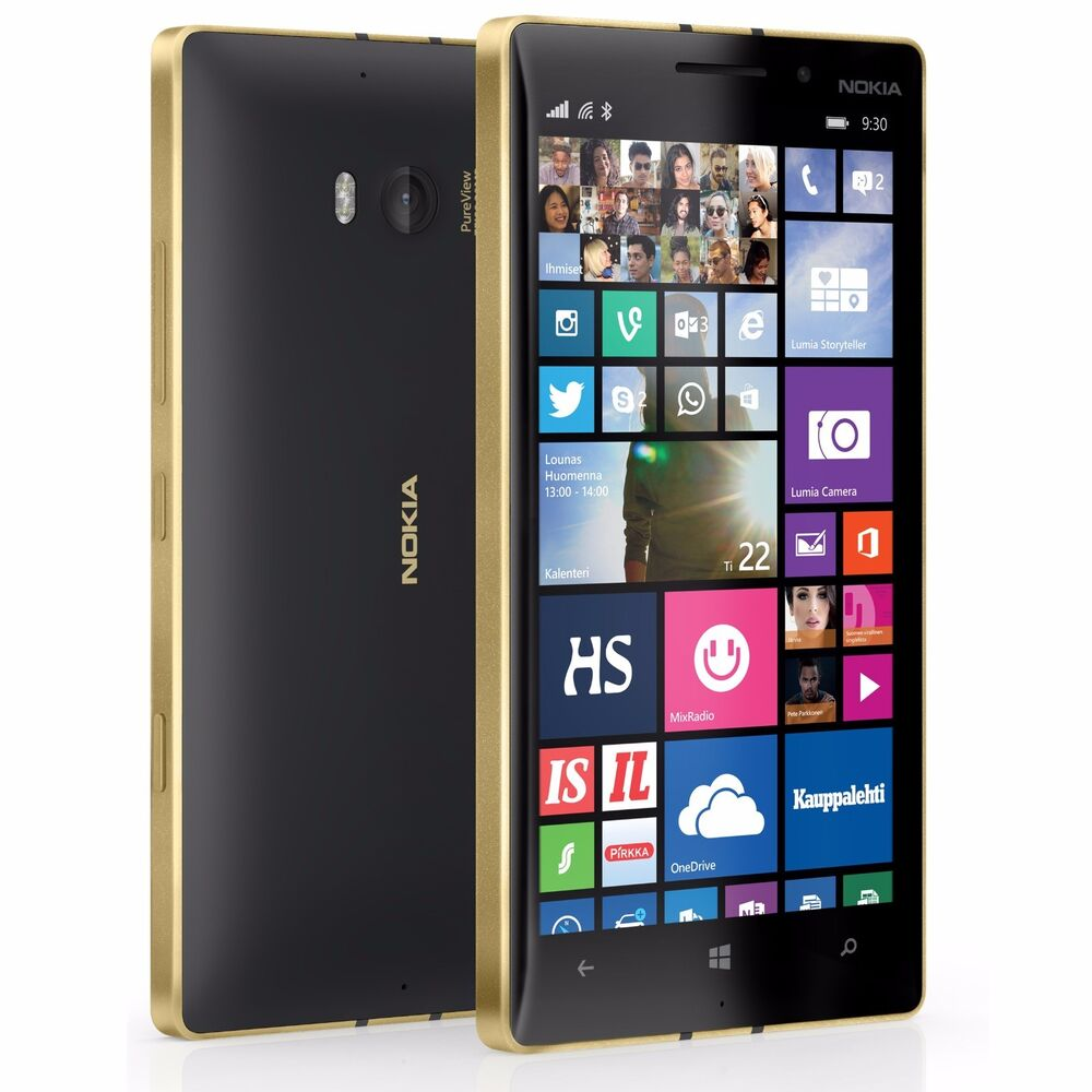 ... LUMIA 930 32GB BLACK-GOLD UNLOCKED 20MP CAMERA SMARTPHONE+GIFTS | eBay